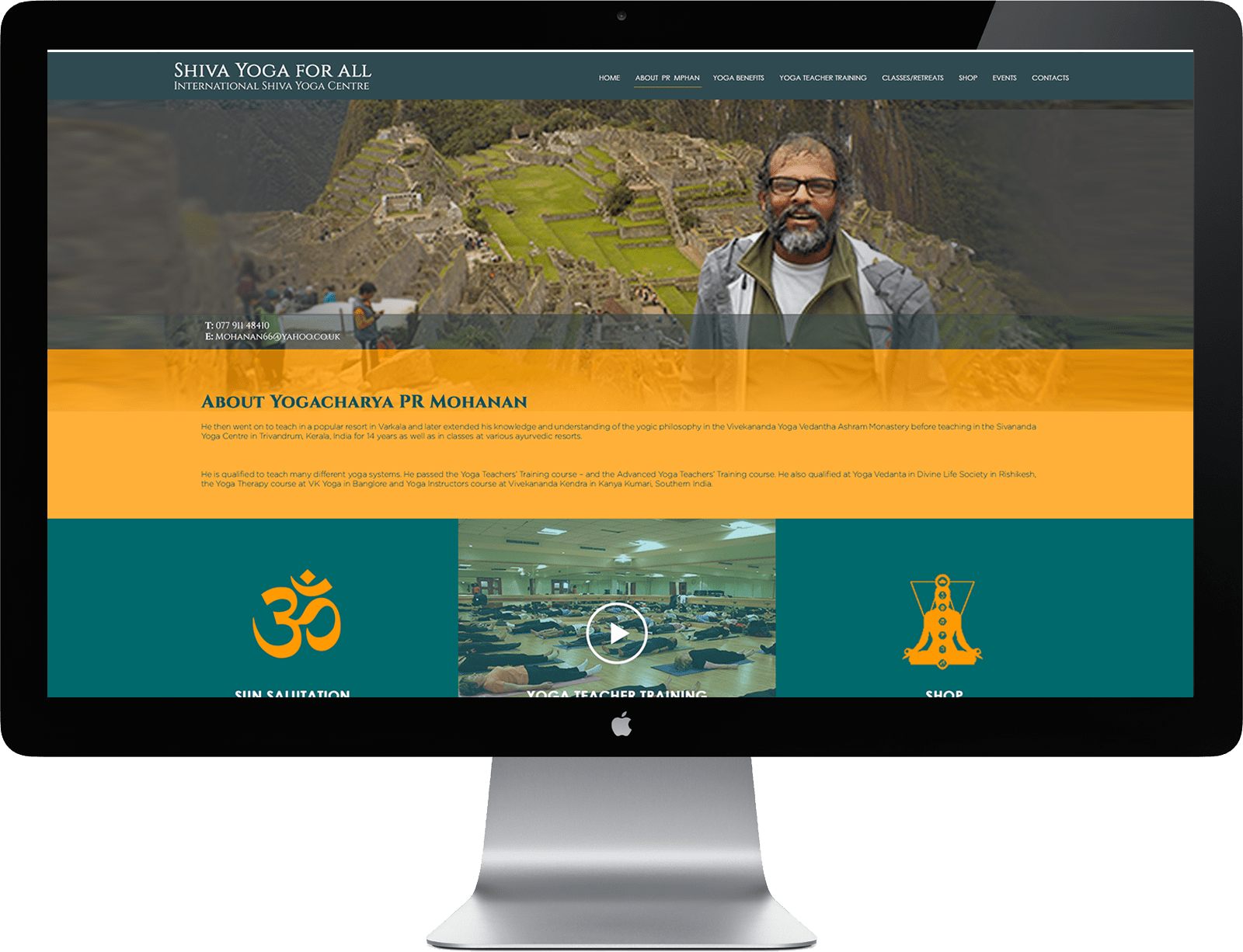 yoga teacher liverpool web design by TK- Design
